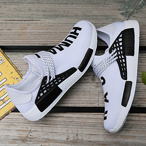 Womens Trainers Shoes Breathable Mens KUXIE Sport Shoes Fashion Sneakers Mens Running Shoes White Summer Casual nS1nwP48qx