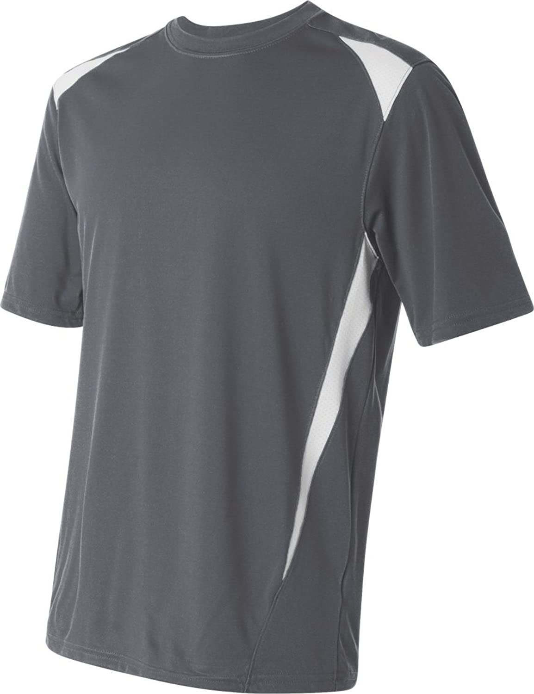 Augusta Sportswear SHIRT メンズ B00IUJBDKOグレー/ホワイト 3L