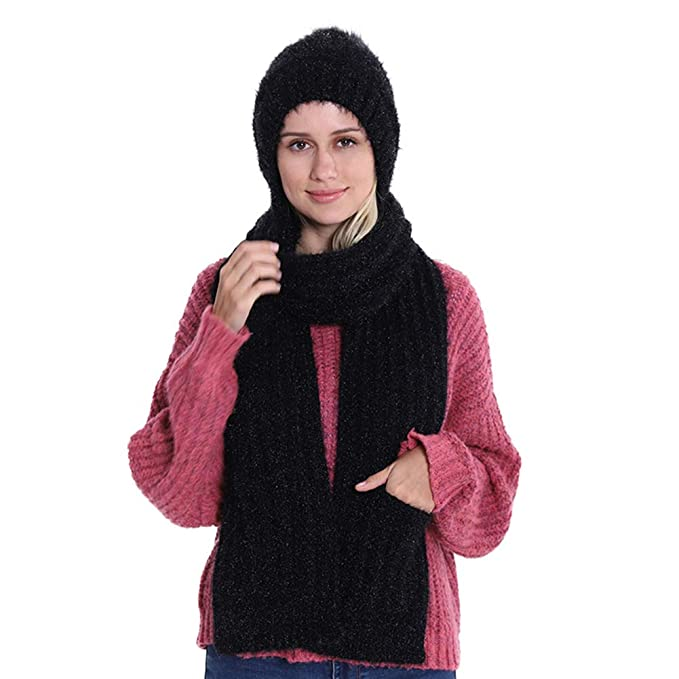 61d60f21d Amazon.com: 3 in 1 Beanie Hat Scarf and Gloves Set Winter Warm Knit ...