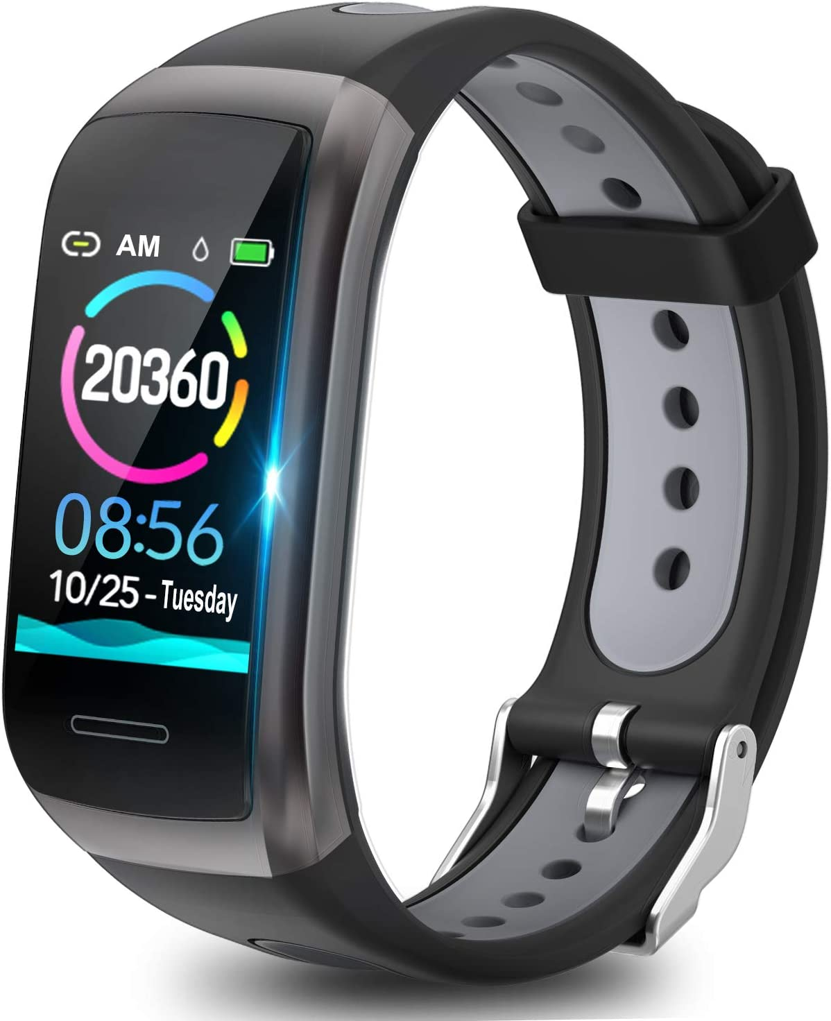 TagoBee TB14 Pulsera Actividad Fitness Trackers IP68 Waterproof Smart Band 1.14'' LCD Color Screen Sport Smart Brazalete con Monitor de frecuencia cardíaca Compatible con Android e iOS