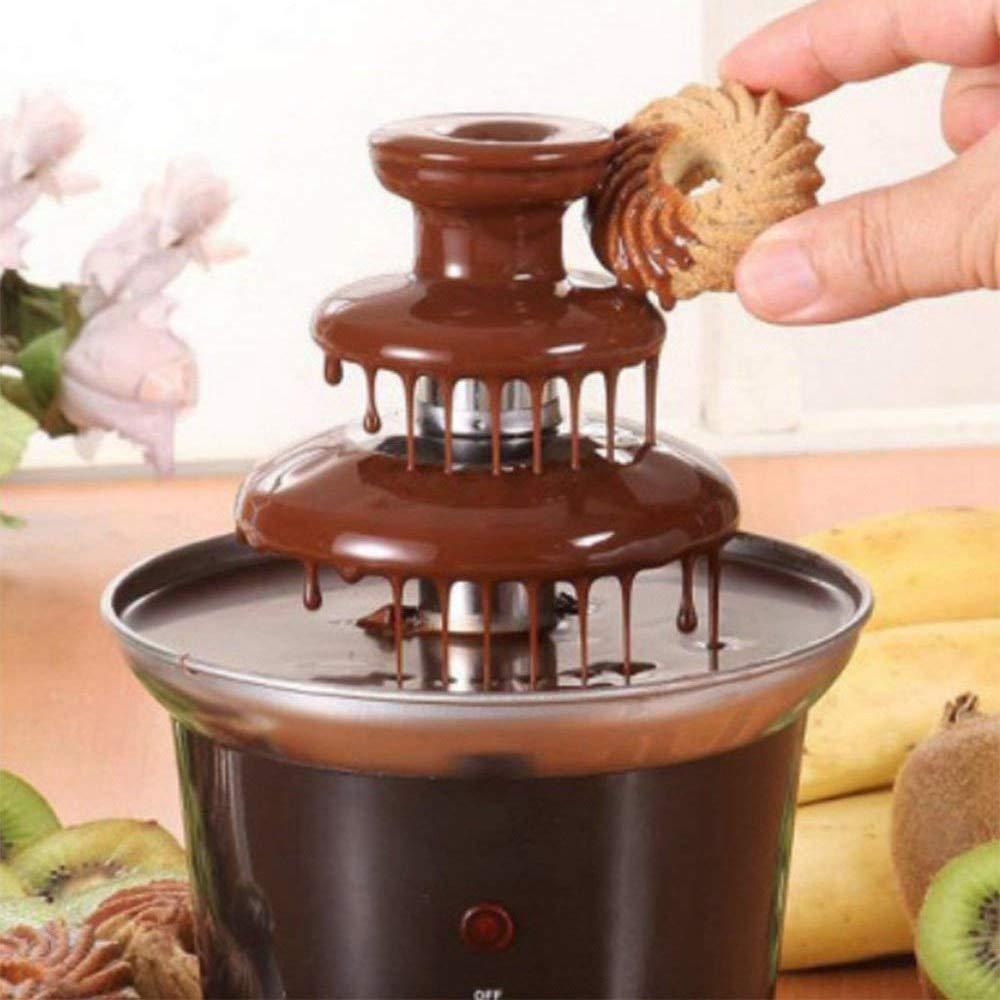 Mini Chocolate Fondue, Electric Stainless Steel Fondue Pot Chocolate Melting Machine Dipping Dessert Fruits Butter Che Plug