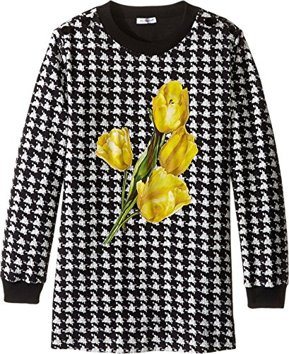 Dolce & Gabbana Kids Girls' City Houndstooth Sweater, Black/White Print, 8 Big Kids (Dolce Sweaters Gabbana Women &)