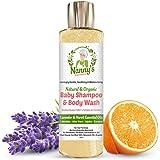 All Natural & Organic Shampoo e bagnoschiuma per neonati | Lavanda e Neroli | 100% naturale con il 76% di sapone biologico, per neonati e bambini