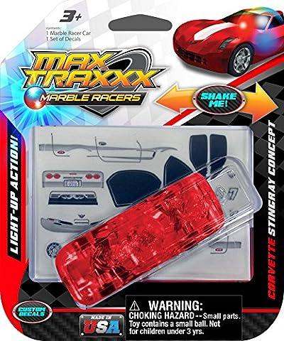 Max Traxxx Corvette Stingray Light Up Marble Tracer Racer Gravity Drive Car - Tyco Corvette