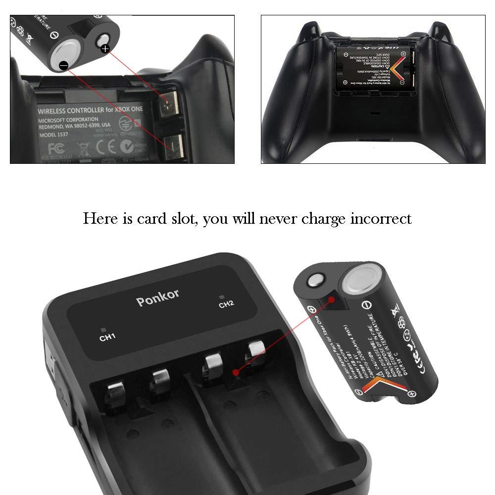 Amazon.com: Xbox One - Batería para mando a distancia (muy ...