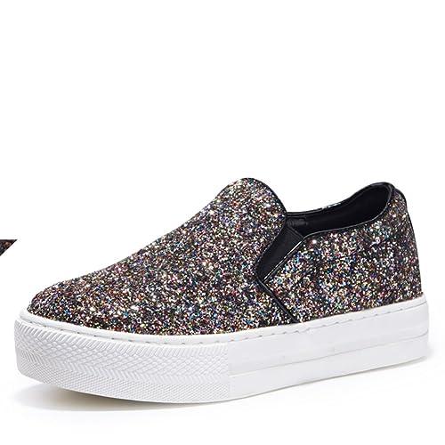 Autunno moda glitter piattaforma scarpe mocassino Scarpe donna  poco  profonda-C Lunghezza 587721ee62b