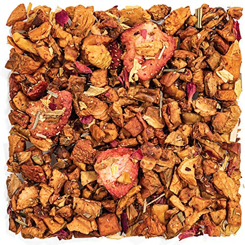 Tealyra - Strawberry Guava Jam - Apple - Lemongrass - Fruity Herbal Loose Leaf Tea - Hot and Iced Drink - Vitamins and Antioxidants Rich - Caffeine Free - All Natural - 222g (8-ounce)