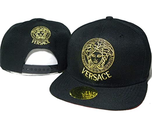 0d1bfa1f0270 VERSACE casquette chapeau chapeaux noir avec logo doré style 2 ...