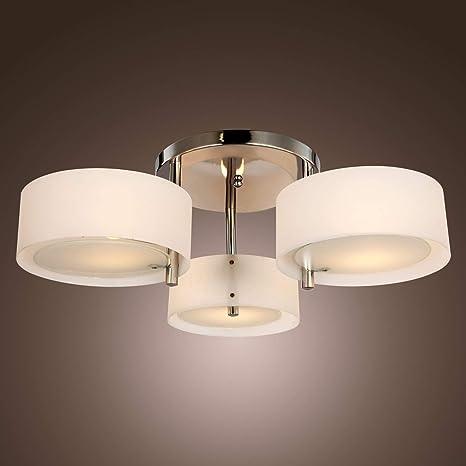 lightinthebox acrylic chandelier with 3 lights chrome finish rh amazon com