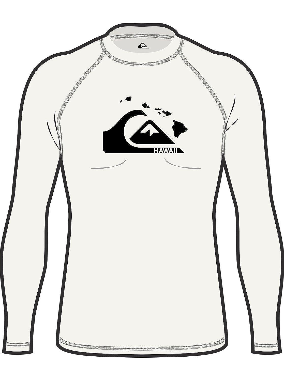 Quiksilver Young Men's Sportswear Island Chains Long Sleeve Rashguard Swim Shirt UPF 50+ Quiksilver Young Men' s Sportswear EQYWR03103