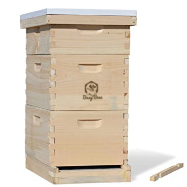 Complete Langstroth Bee Hive Includes Frames & Foundations (LBH10-2D1M)