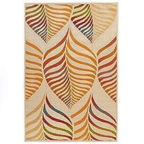 Carpet Art Deco RGIO051187 Outdoor Rug, 53 x 75, Beige/Orange/Red