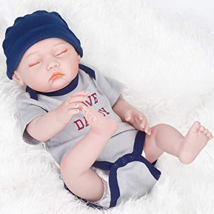f3f70331ec5e Amazon.com  UCanaan 20   Inch Real Baby Boy Doll Newborn Reborn ...