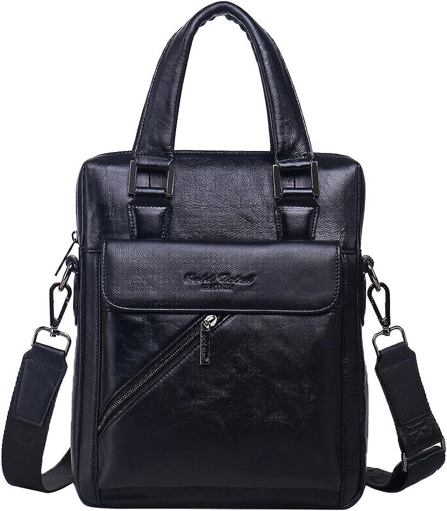 Genda 2Archer Leather Handbag Briefcase Shoulder Messenger Bag for Men