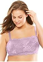 Comfort Choice Women's Plus Size Wireless Floral Lace Bra