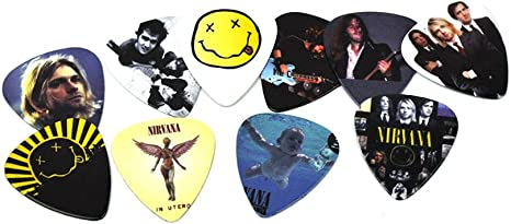 Nirvana 10 X Plectrums In Tin Guitar Picks Limited To 200