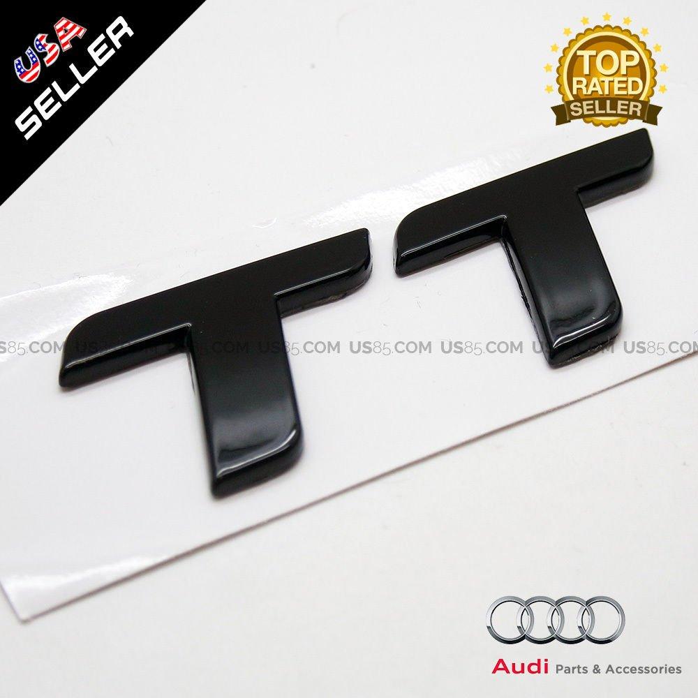 us85/OEM placa emblema de AUDI TT negro brillante Trunk logotipo insignia Decoraci/ón modificado