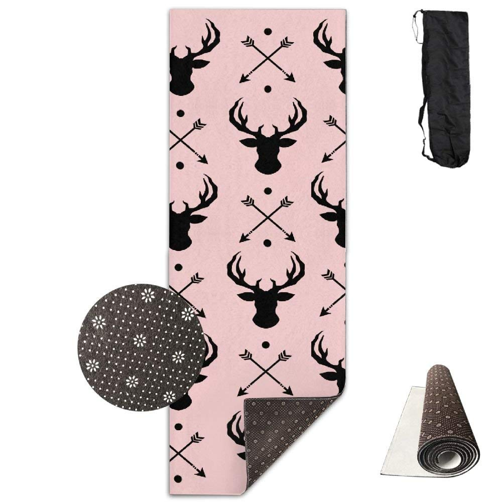 Deer and Arrow Deluxe Yoga Mat Aerobic Exercise Pilates