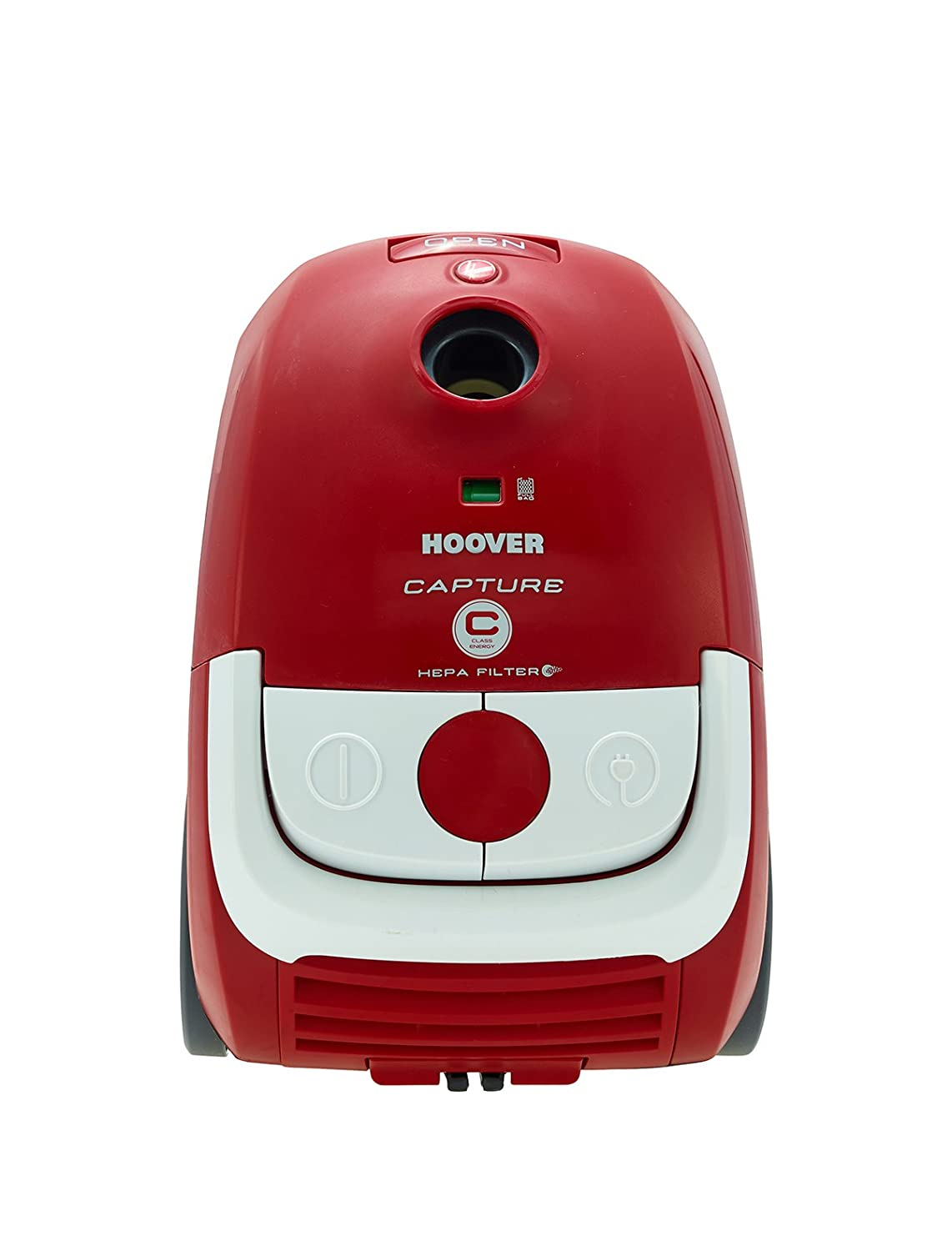Hoover Capture Cylinder Vacuum Cleaner, 2.3 L 700 W - Red and White [Energy Class C] CP71_CP01001 / 39001183