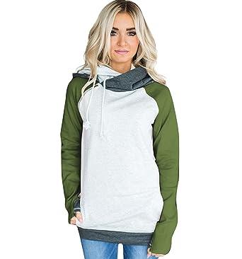 4b9ce24d ISSHE Women's Pullover Hoodies Sweatshirts for Women Womens Funnel ...