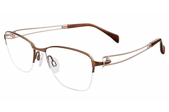 11f9163abd9d Charmant Line Art Women s Eyeglasses XL2118 XL 2118 BR Brown Optical Frame  50mm