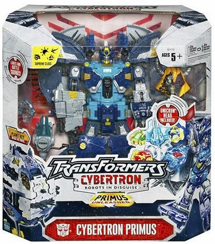 Amazon Com Unicron Primus Transformers Cybertron Supreme Toys