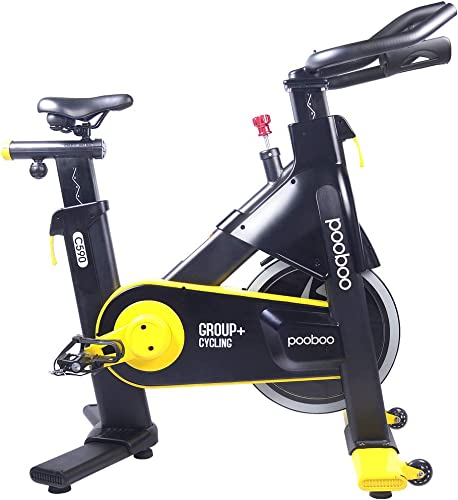 pooboo Indoor Cycling Bike, Belt Drive Indoor Exercise Bike,Stationary Bike for Home Cardio Workout Bike Training