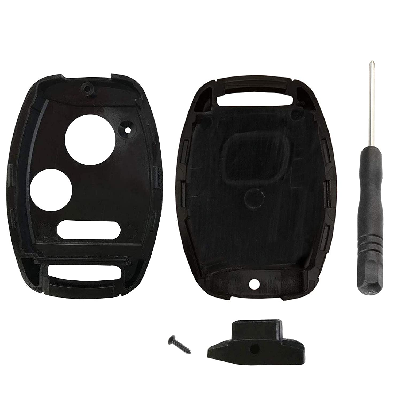 KeylessOption Keyless Entry Remote Key Blade Fob Shell Case Cover Repair for Honda Civic CR-V CR-Z Fit Odyssey Screwdriver
