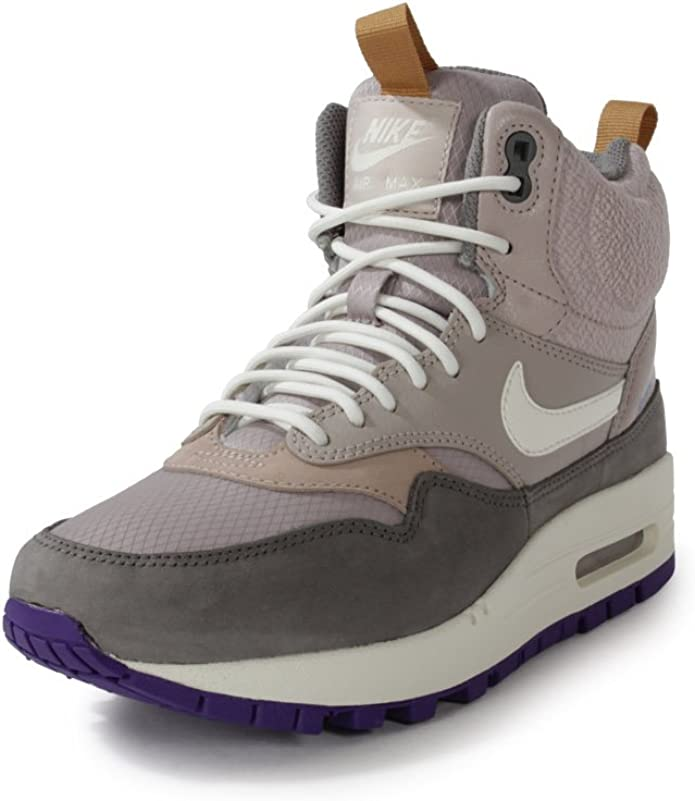Nike WMNS AIR MAX 1 MID SNKRBT WOMENS Sneakers, MED OREWOOD