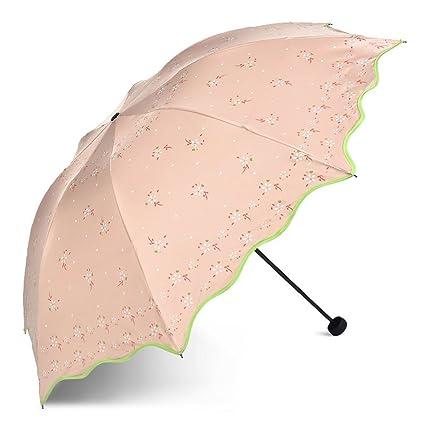 TLMY Chica sombrilla Plegable Creativa pequeña Paraguas de Estudiante de Doble Uso Paraguas (Color :