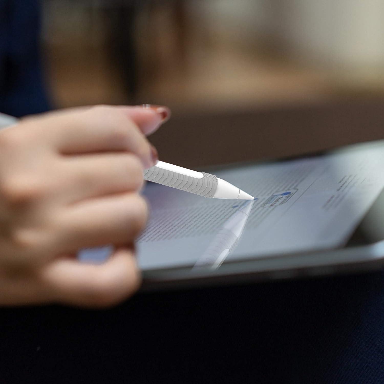 Grigio Custodia Protettiva Ultrasottile Protettiva in Silicone Pencil Holder per Apple Pencil 2nd Generation Belk Custodia Apple Pencil 2nd Generazione per iPad PRO 12.9 2018 e iPad PRO 11 2018