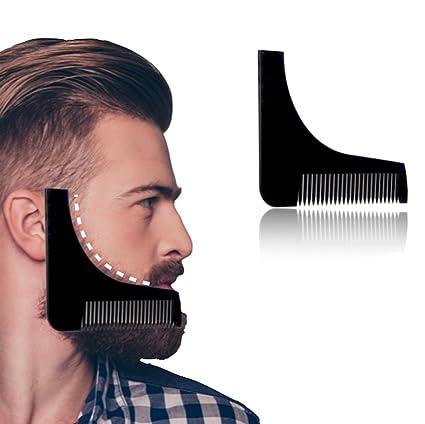 Barba Plantilla y peine Maravillas Beard: modelo como de afeitar ayuda para un afeitado llevándote