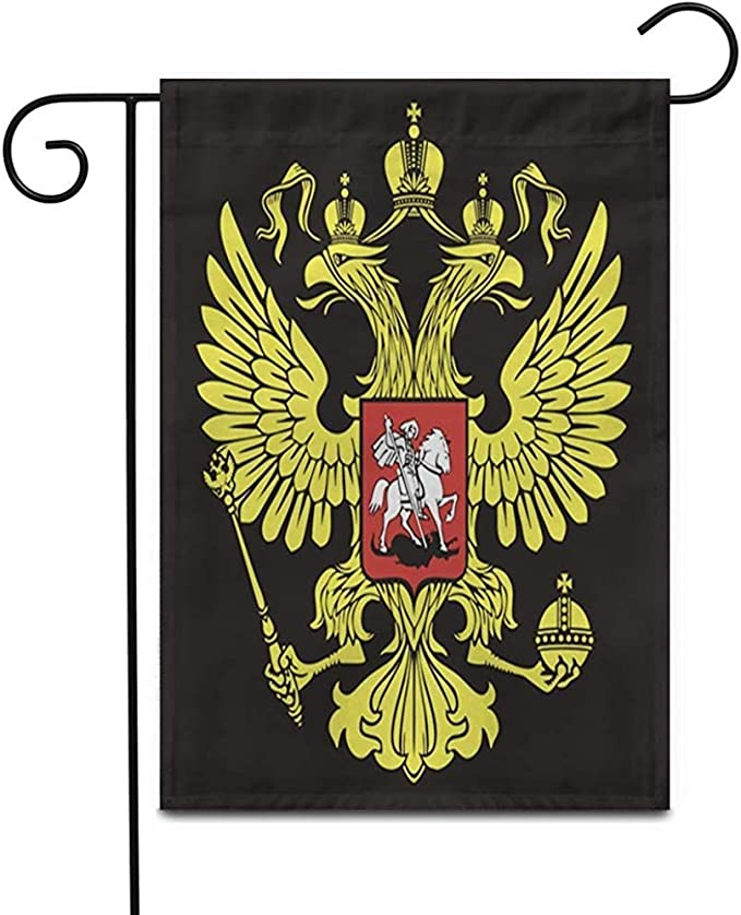 Bandera Del Jardin Emblema El Águila Bicéfala Rusa Símbolo De La Rusia Imperial Patio Patio De Doble Cara Decoración Del Hogar Al Aire Libre Banderas De Jardín Bandera Jardín De Césped Bandera