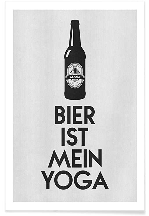 JUNIQE® Poster 20x30cm Beer Black & White - Diseño