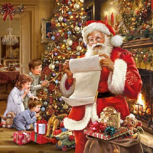 20/tovaglioli natale babbo natale letterina regali Christmas 33/X 33