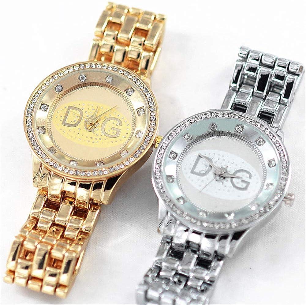 Orologi Orologio al quarzo da donna di alta qualità DQG di alta qualità in acciaio inossidabile dorato Orologio da donna sportivo con strass Reloj mujer Oro