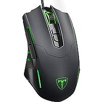PICTEK Gaming Mouse Wired [7200 DPI] [Programmable] [Breathing Light] Ergonomic USB Computer Mice RGB Laptop PC Gaming…