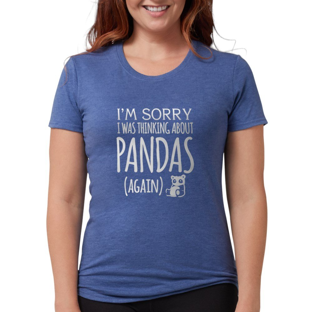 34faa6f4b Amazon.com: CafePress Im Sorry Panda T-Shirt Womens Tri-Blend T-Shirt:  Clothing