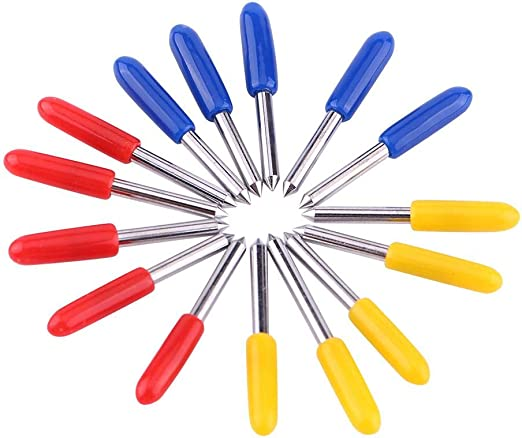 Cuchillas de vinilo cortadoras para plotter de Roland de 15 piezas, 30/45/60 grados: Amazon.es: Bricolaje y herramientas