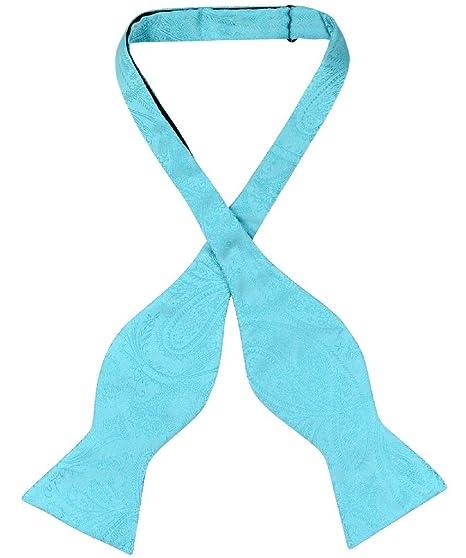 New Y back Men/'s Vesuvio Napoli Suspenders Bowtie Hankie clip on Aqua Green