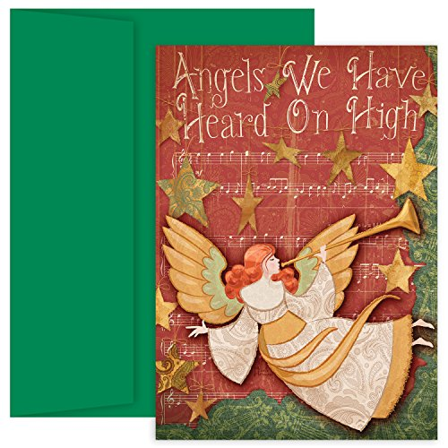 Masterpiece Studios Hollyville Greetings Boxed Cards, Angels We Have Heard on High, 18 Cards/18 Envelopes ()