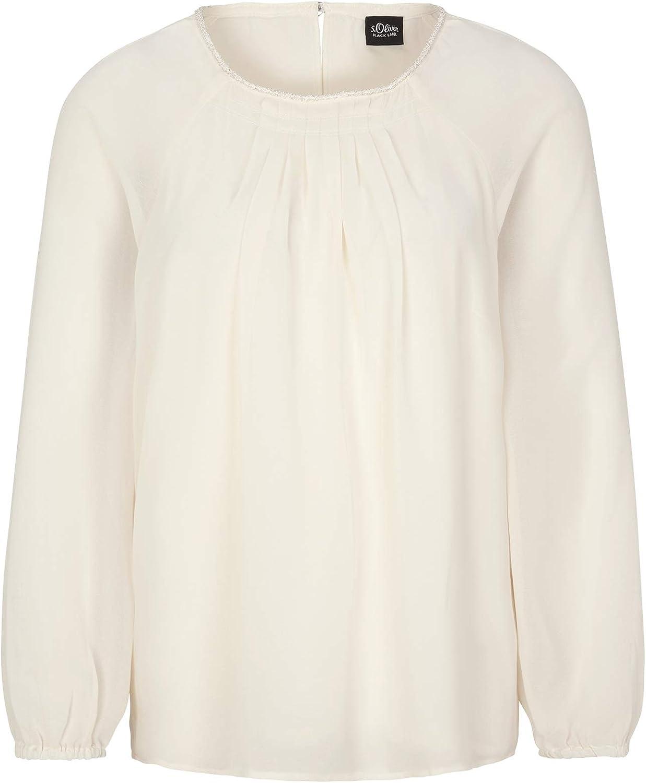 s.Oliver BLACK LABEL Camicia Donna Avorio (Cream White 0220)