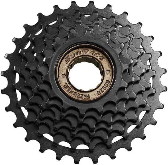 Silver//Black Sunrace 5-Speed Freewheel 14-28T