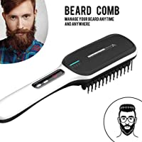 Beard Straightener Comb Hair Straightening Comb for Man Quick Styling Comb Curly Hair Straightening Comb Side Hair Detangling Electric Hair Comb Men Beard Comb for Men