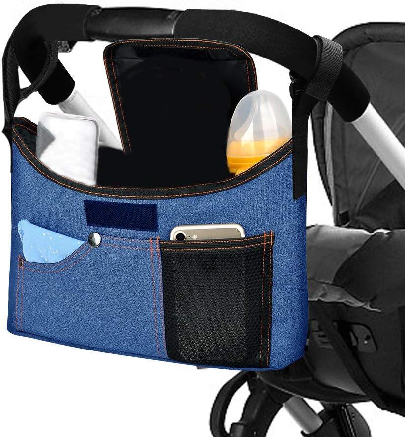 liltourist Jeans de Look Carrito organizador bolso para cochecito con hombro correa azul azul