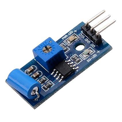 MagiDeal Sensor Inclinación Vibración SW-420 Módulo de Alarma Movimiento Sacudida Choque para Arduino