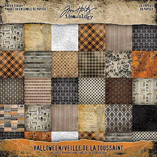 Tim Holtz 2018 Halloween Paper Pad, 8 x 8 inch, 20 double-sided pages, TH93712]()