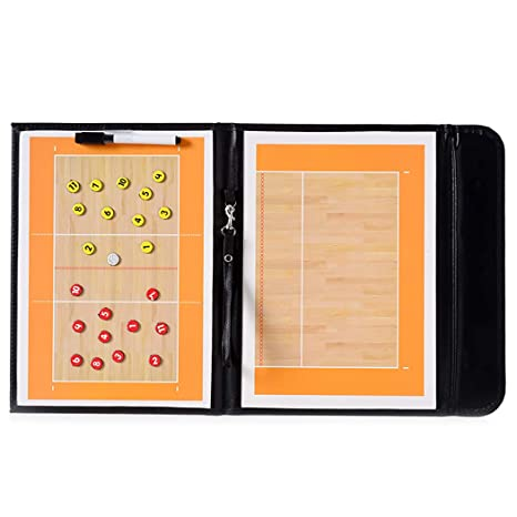 Fansport Tactics Board Portable Foldable Magnetic Coach Board Volleyball Board