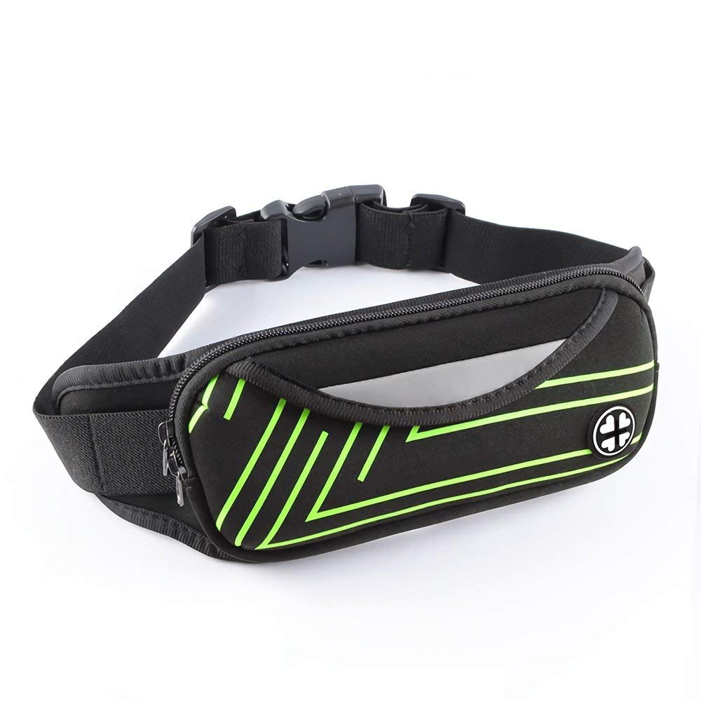 WJZXTEK Running Belt, Big Size Funny Pack Workout Belt Waist Pouch Fitness Sport Waist Pack Exercise Waist Bag for iPhone Xs XR XS MAX X 8 7 8s Plus Samsung in Running Gym Marathon Cycling Sports