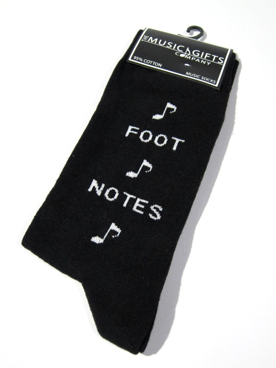 Unisex Black Music Dress Socks - ''Foot Notes''